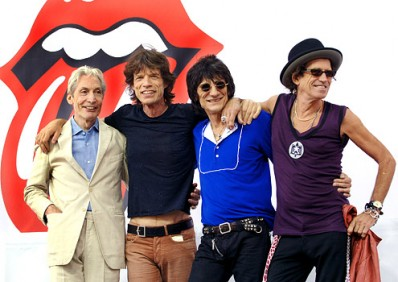 Rolling Stones Kick Off World Tour with Press Conference and Surprise Performance in New York - May 10, 2005