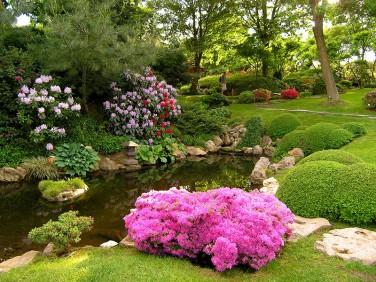 Japonská sekce ve venkovním areálu botanické zahrady