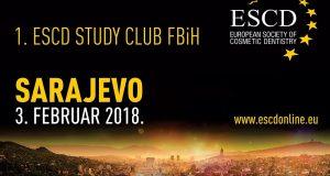 1. ESCD Study Club FBiH – Sarajevo, 3. februar