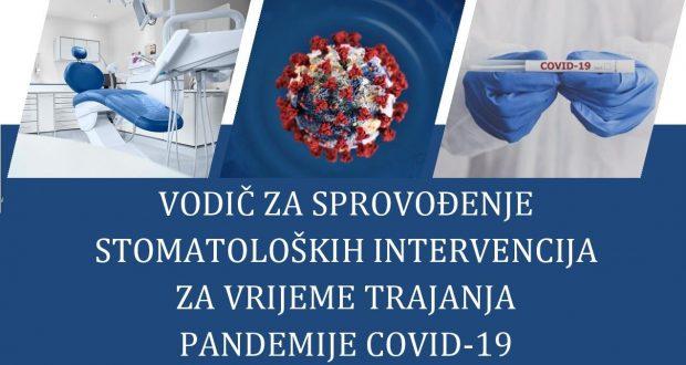 Vodič za sprovođenje stomatoloških intervencija za vrijeme trajanja pandemije COVID-19 – zakazivanje i skrining pacijenta