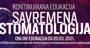 Kontinuirana edukacija – Savremena Stomatologija – 20. mart