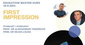 """Edukativni Master Kurs """"First Impression"""" – Banja Luka, 18. septembar"""